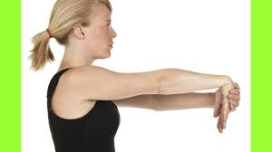Gently Stretch the Wrist for Tennis Elbow