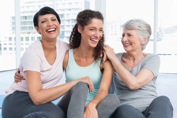 Happy Women at Therapy